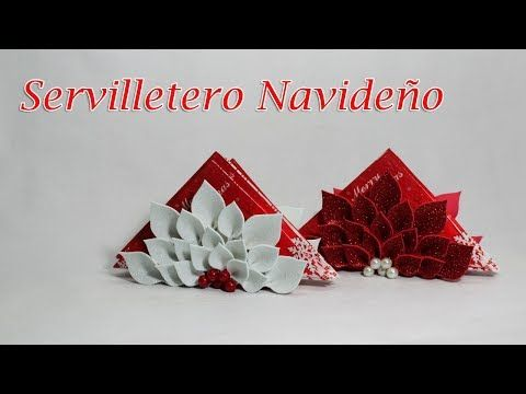 Servilletero navideño - YouTube