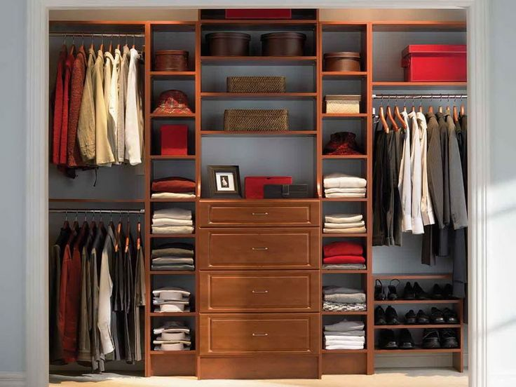 Closet And Wardrobe Designs. Lovely Minimalist Wooden Furniture Set Walk In Closet  Design For Nice Clothing Lines, Hats, And Shoes Storage System.