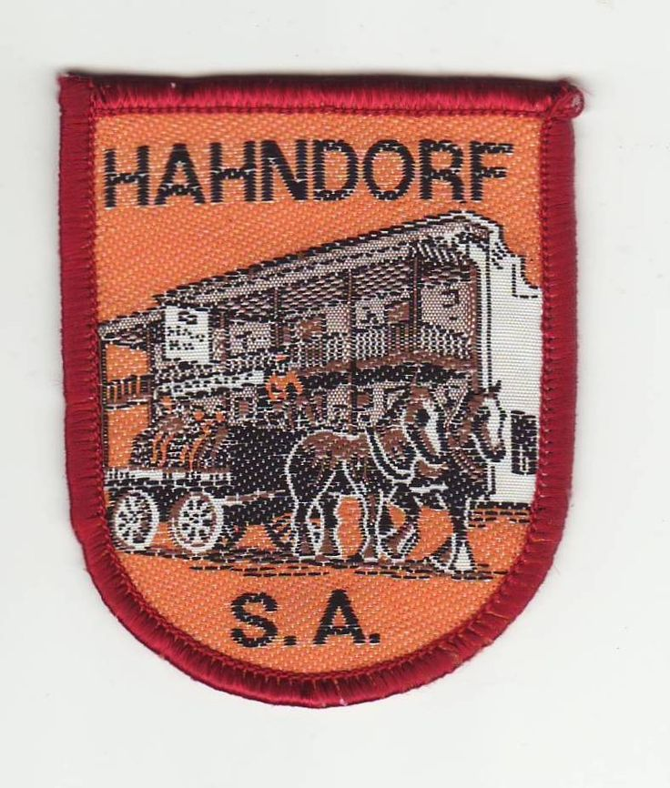 Cloth Patch - Badge - Hahndorf, South Australia, Australia. Woven. Sold on ebay for $17.50.