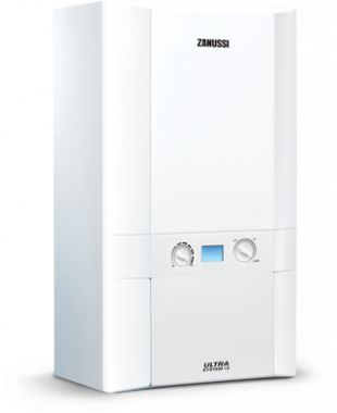 The 15kW Zanussi Ultra System Gas boiler is perfect for a compact cupboard fit. At just 34.1kg it is lightweight and easy to install.This is an ideal boiler for houses that use lots of hot water as the external cylinder means hot water is always stored. It has boiler frost protection so that your boiler and any pipe work is protected and there is an option to purchase a 10 year parts and labour warranty.