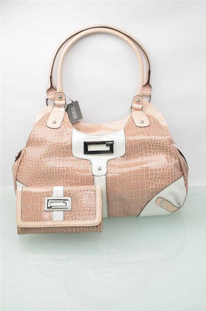 Guess Handbag Womens Bag Reptile Embossed Bags Hobo Purse ...
