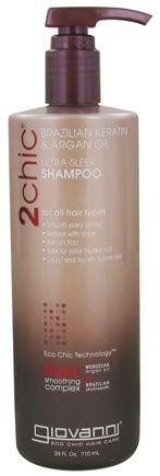 Buy Giovanni - 2Chic Brazilian Keratin & Argan Oil Ultra-Sleek Shampoo - 24 oz. at LuckyVitamin.com