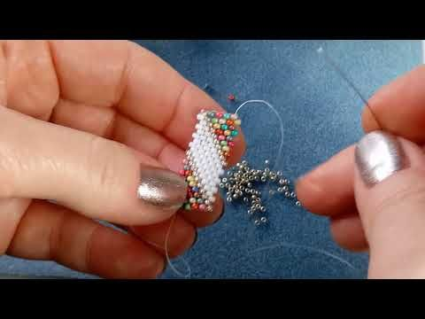 PWAT (peyote with a twist - not crochet) Zip Connection - YouTube
