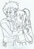Naruto and Hinata lineart - NARUHINA by ZANNA-Nezuko