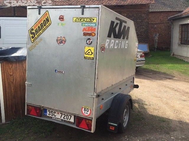 Přívesný vozík 210x110 plechová nerezová konctrukce - obrázek číslo 1