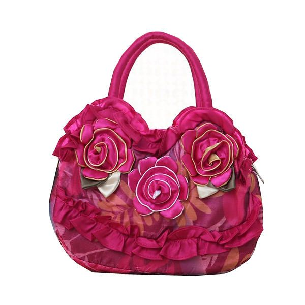 Women National Floral Polyester Handbag Daily Shopping Durable Handbag - US$11.99  #men #women  #bags #fashion