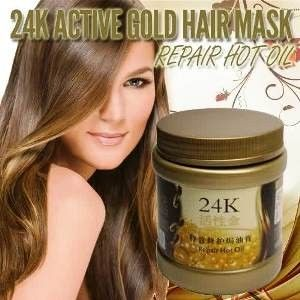 Masker Rambut 24k adalah masker rambut denga extra gold yang bermanfaat untuk merawat dan memperbaiki jaringan rambut yang rusak, Masker Rambut 24k bermanfaat untuk memperbaiki kerusakan rambut yang di timbulkan oleh sengatan sinar matahari