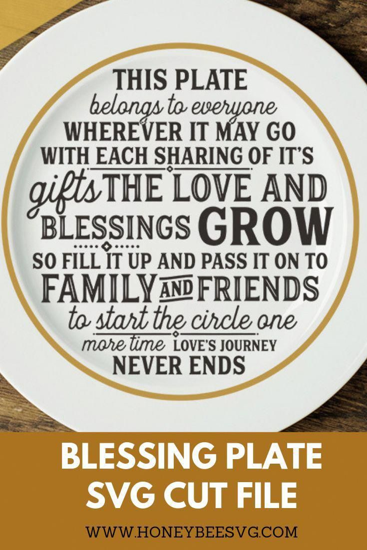Sweet Blessings Plate Project For Cricut Explorer And Silhouette