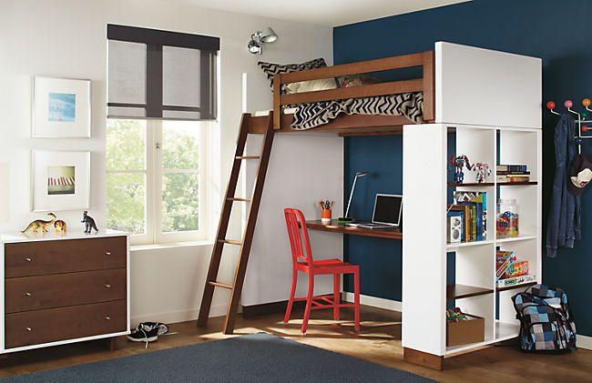 Moda Loft Bunk Bed with Desk in Colors - Bunks & Lofts - Kids - Room & Board
