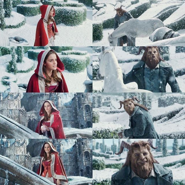 There's something sweet and almost kind, but he was mean, he was coarse and unrefined. And now he's dear and so I'm sure, I wonder why I didn't see it there before. #disney #beautyandthebeast #beautyandthebeast2017 #belle #beast #emmawatson #danstevens