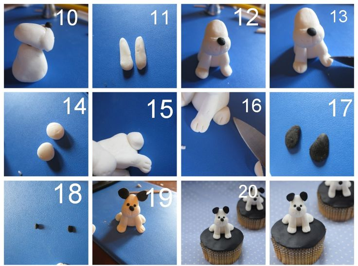Belle Cake Topper and Mould: puppy