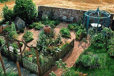 Love this potager garden!                                                                                                                                                                                 More