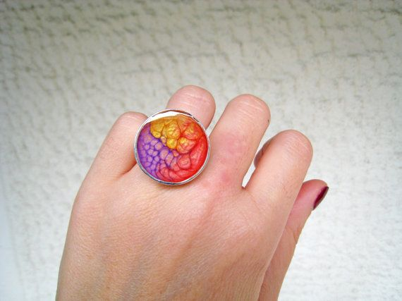 Red yellow purple ring multicolor ring phychedelic by xroma