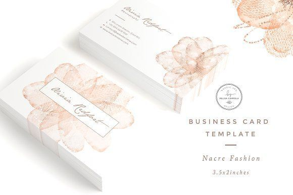 Nacre Fashion Business Card Template by Nordic.Arg on @creativemarket