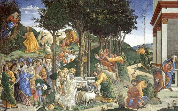 Prove di Mosè - 1481-1482 - affresco - 348,5x558 cm - Città del Vaticano, Cappella Sistina