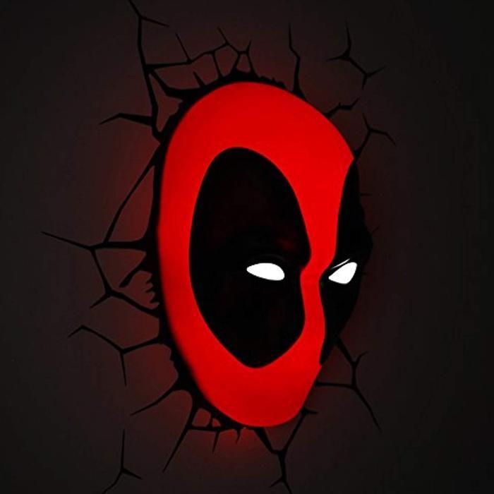 Marvel Deadpool Mask 3d Deco Light Deadpool Wall Decor Deadpool Decor Marvel Deadpool