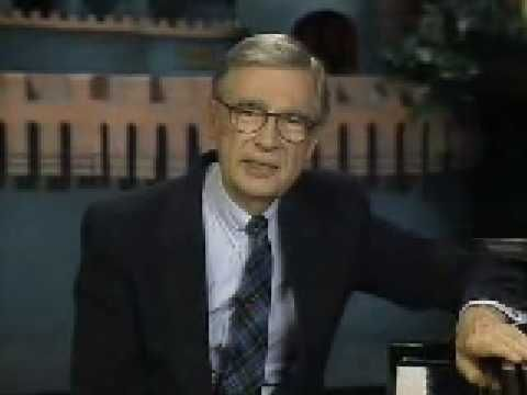 Mr. Rogers addresses the adults who have grown up with him