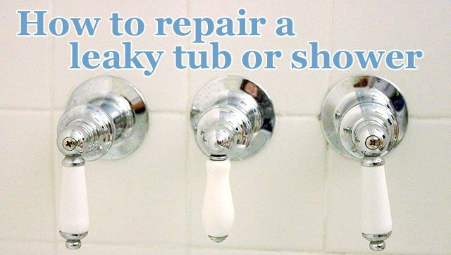 How to repair a leaky tub or shower -  Also, basically how to replace your shower hardware  (great step by step, photo/instruction tutorial)  Pretty Handy Girl
