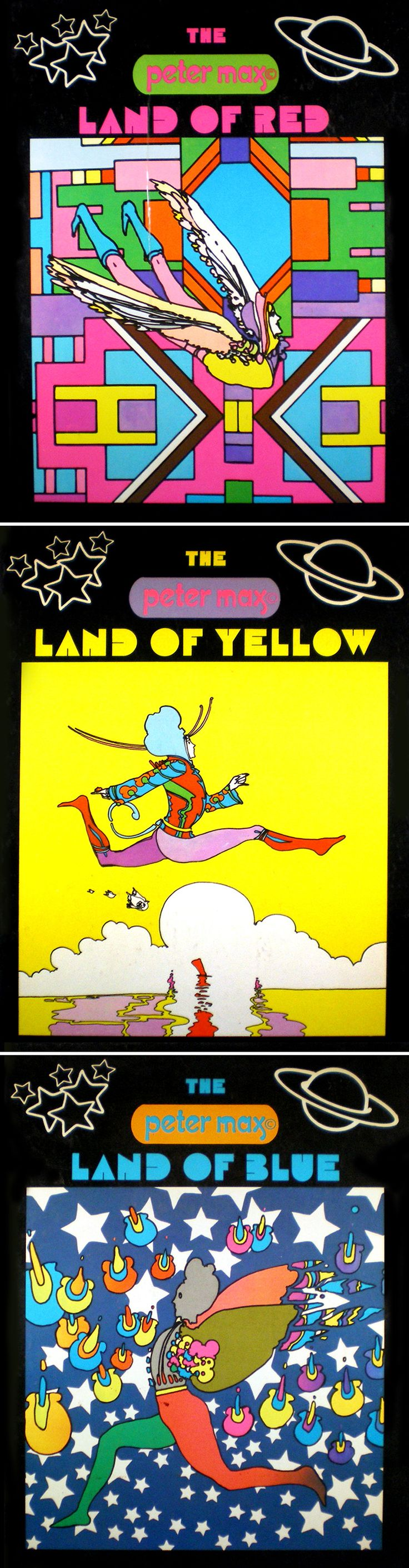 Peter Max — The Land of Red / Yellow / Blue (1970)