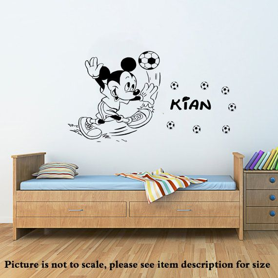 Disney Mickey Mouse play football Vinyl Wall Art by JRDecal