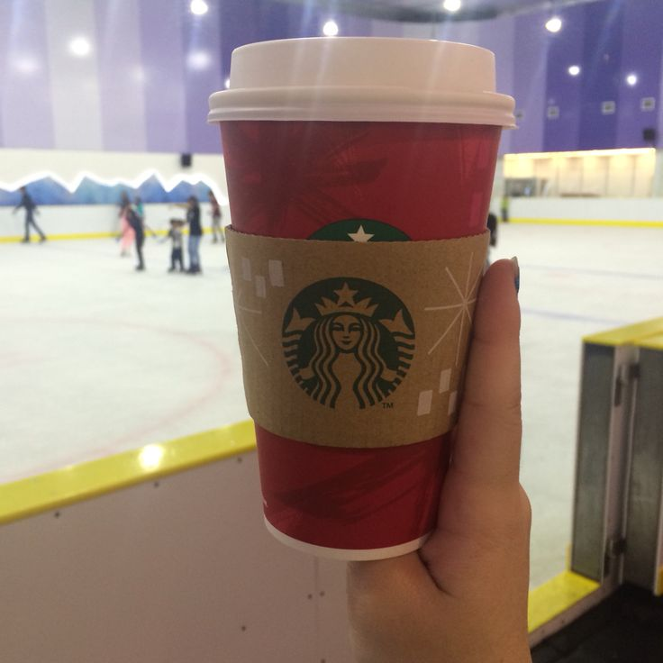 Cool surrounding at ice skate... But a Starbucks to enjoy while rest.....