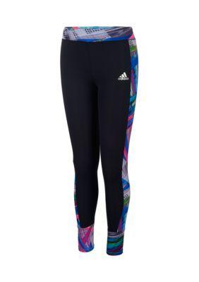 adidas Black Free Kick Tight Girls 4-6x