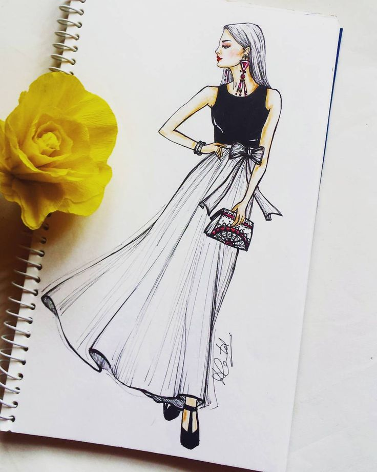"215 Likes, 15 Comments - Dipti Patel (@dipti.illustration) on Instagram: ""Quick Monochromatic illustration. #fashionillustration #monochrome #sketchbook #artoftheday…"""