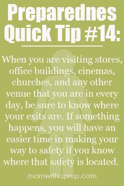 Mom with a Prep - Preparedness Quick Tip #14 - Where's the Exit?