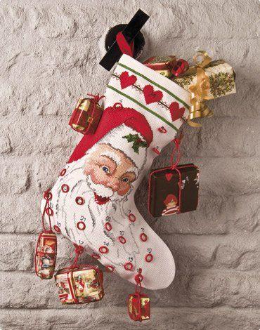 """Julstrumpa och adventskalender """"Jultomten"""""""