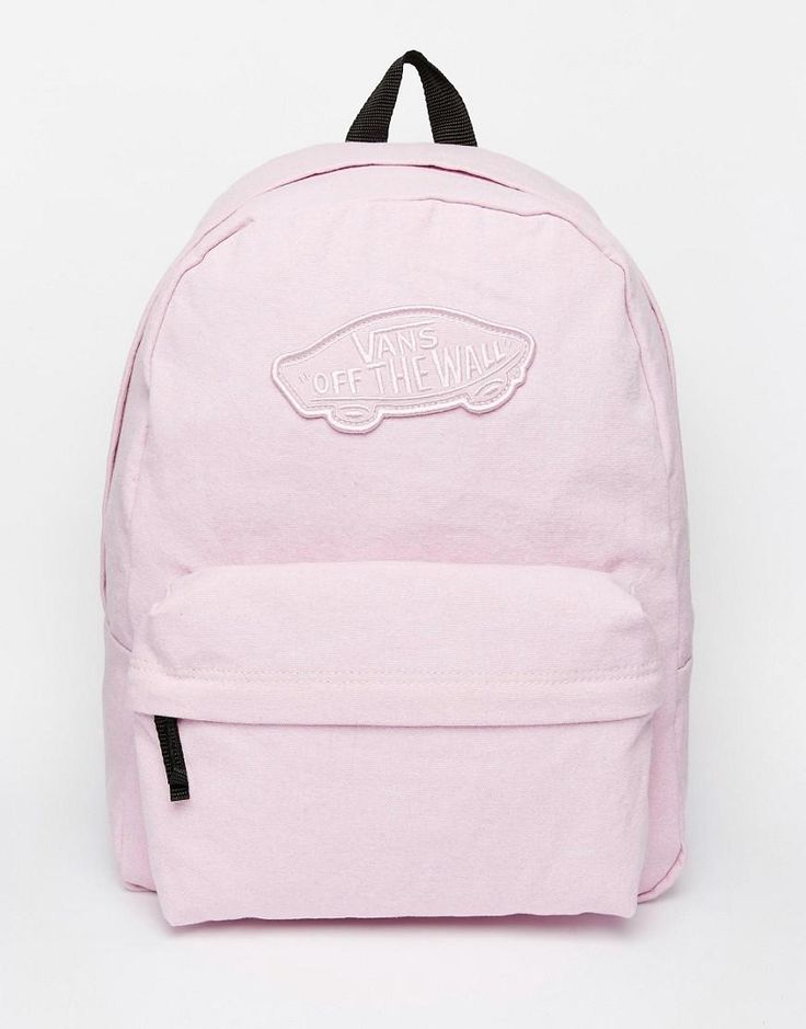 Pink | Vans Realm Backpack in Pink at ASOS