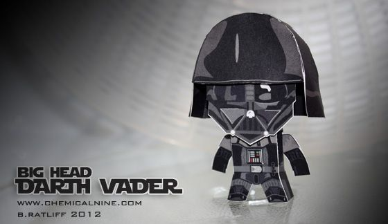 A paper big head Darth Vader you can download, print, cut out, and make yourself!  Okay.  So maybe this one isn't really for Bibi but look!  Cute little big head Darth Vader!