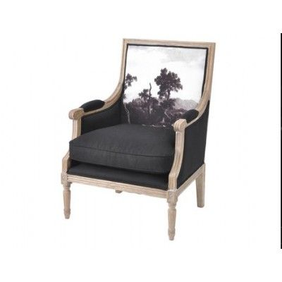 Young & Battaglia Blk upholstered chair