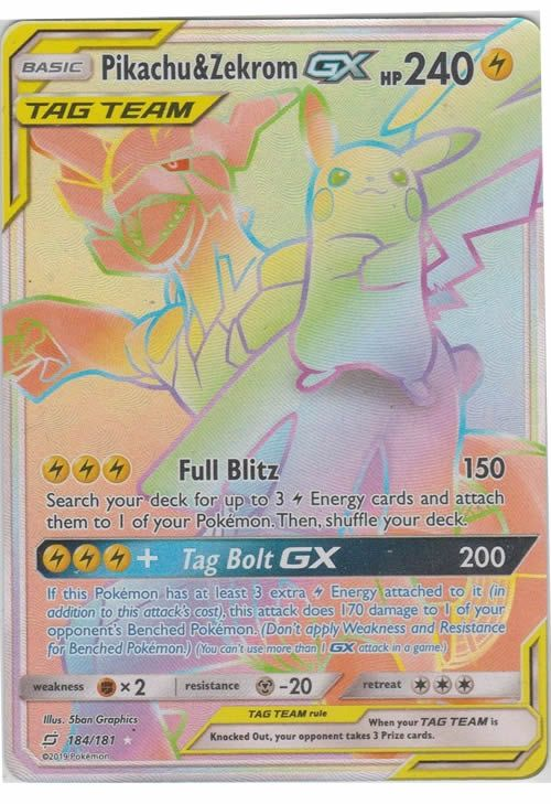 The Rainbow Rare Version Of The Most Popular Gx Tag Team Card In The