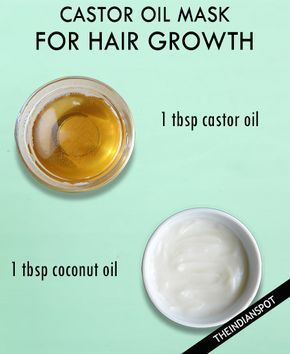 CASTOR COCONUT HAIR MASK FOR HAIR GROWTH It is best to mix castor oil with an equal amount of a base oil like coconut oil to get a better consistency and enhance the benefits. Rub it on your scalp and massage. Leave it on for 30 to 45 minutes. Finally, rinse it out and shampoo … #haircareoil,