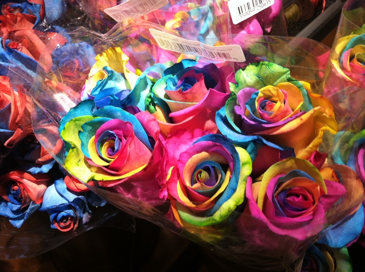 Tie dye roses at wegmans things i love pinterest we for How to make tie dye roses