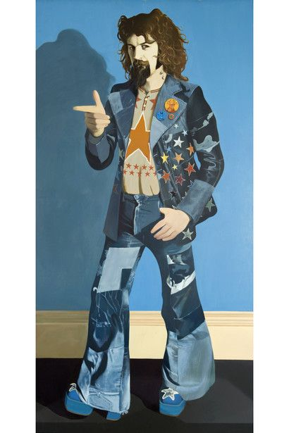 Billy Connolly, 1974, Oil on panel, Size 122 x 244 cm, Glasgow Life (Glasgow Museums) on behalf of Glasgow City Council, © John Byrne / Bridgeman images.  Image source - https://wsimag.com/art/9967-john-byrne-sitting-ducks