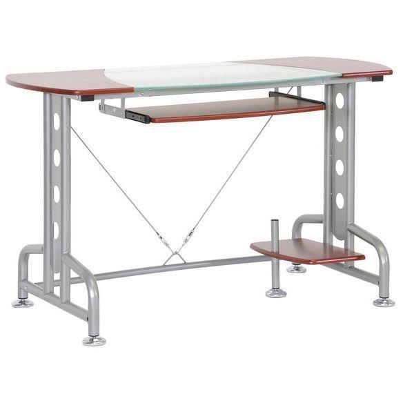metal computer desk home office student dorm best laptop glass workstation table - Modern Computer Desk