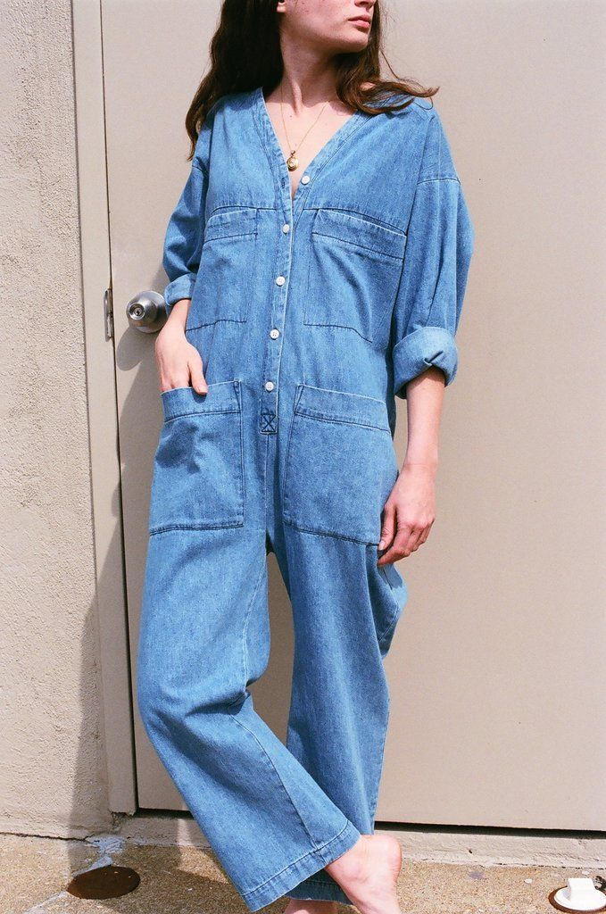 78b401044bb Ilana Kohn Tuck Coverall   Denim – NA NIN