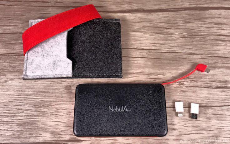 die nebulacc powerbank kommt mit einer filz h lle und zwei. Black Bedroom Furniture Sets. Home Design Ideas