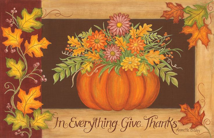 New Fall Leaves Pumpkin Thanksgiving IN EVERYTHING GIVE THANKS Floor Mat Rug USA #MadeinUSA #Country