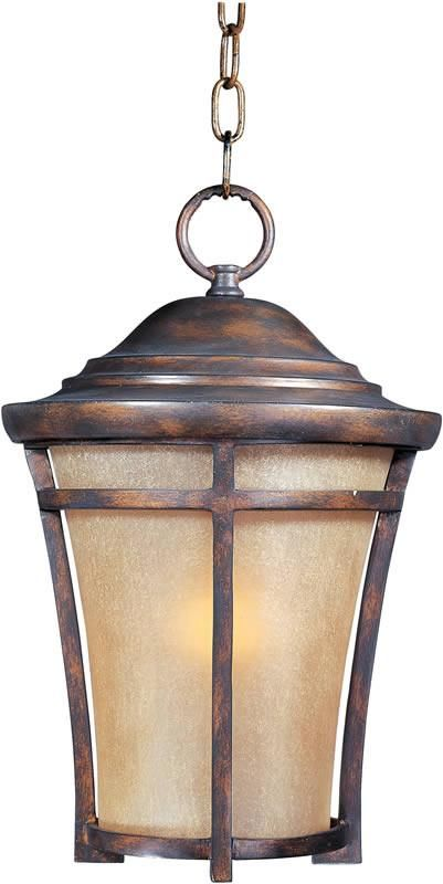 "12""w Balboa Vivex 1-Light Outdoor Hanging Lantern Copper Oxide"