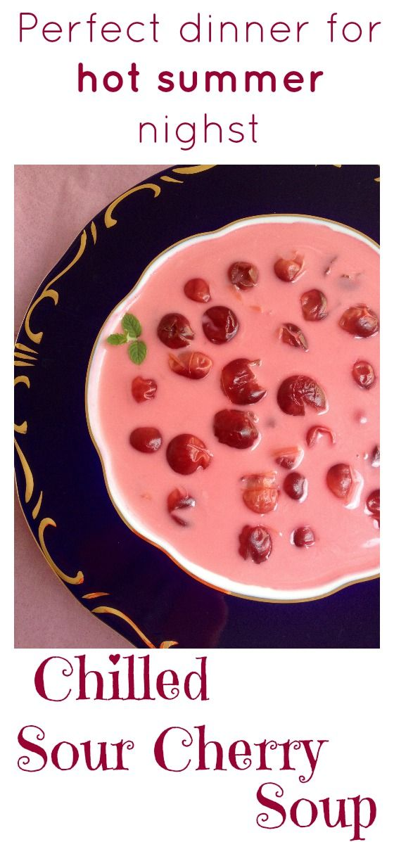 Hungarian fruit soups are very popular all over the country and made from a wide variety of fruits, from apple to sour cherry. Fruit soups are definitely quite different than any soup you have ever made. Very refreshing, with a nice balance of sweet and sour. Click for the recipe.