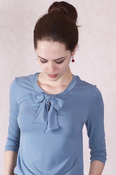 Langarmblusen - NARA elegante Blusen Shirt mit Schleife - ein Designerstück von Berlinerfashion bei DaWanda