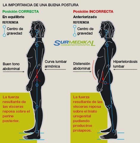Correcta postura corporal