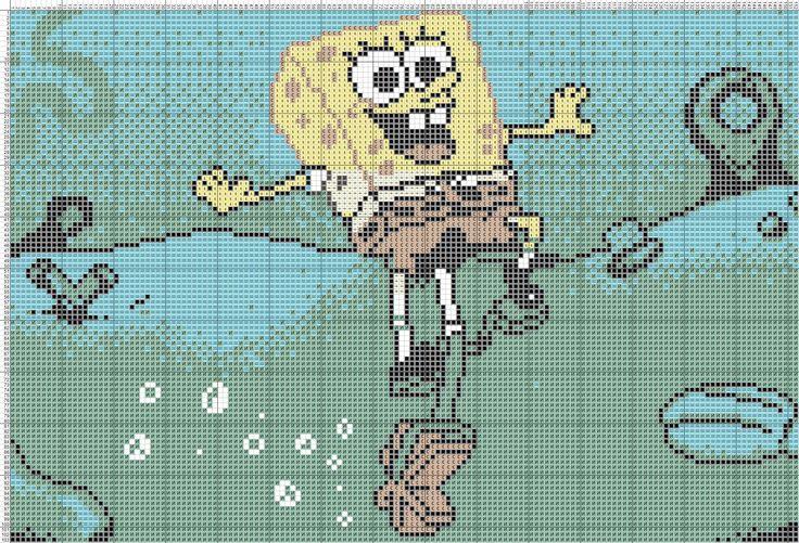 44 best crafts spongebob images on Pinterest | Bob esponja, Punto de ...
