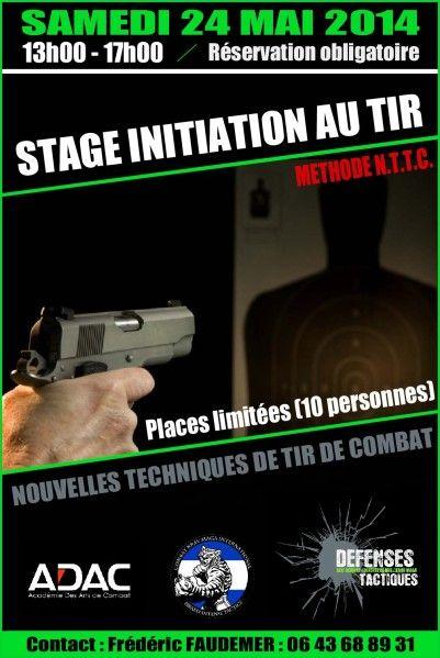 Samedi 24 Mai 2014, le club Défenses Tactiques en partenariat avec la Breiz Team Formation, organise une initiation au tir de combat