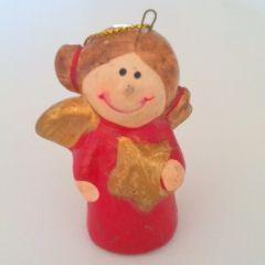 Mini melek biblo Ölçüler: 4 cm x 7 cm. Yılbaşı ağaçlarınız için farklı bir süsleme isterseniz...