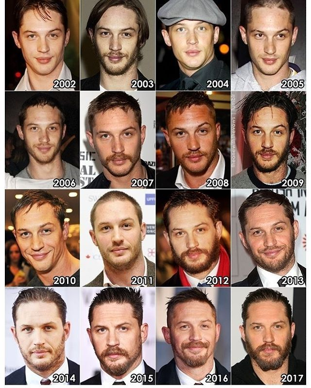 The evolution of tom hardy #lovetomhardy