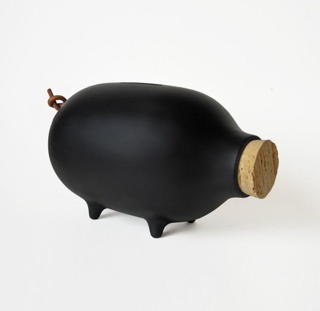 Chalk piggy bank, ladies and gentlemen studio