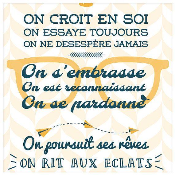 Règles de la Maison Poster Numérique Affiche par SpilloDesign